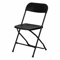 50 Black Plastic Folding Chairs Indoor Outdoor All Events 30