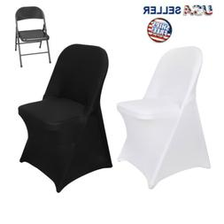 100PCS Stretch Spandex Folding Chair Covers Polyester  For W