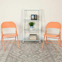 2 Pack Home & Office Colorful Metal Folding Chair Teen and E