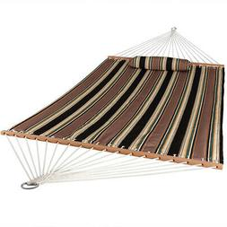 Sunnydaze 2 Person Quilted Fabric Hammock with Spreader Bars