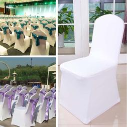 25PCS White Spandex Stretch Folding Chair Covers For Wedding