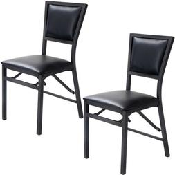 2X Folding Foldable Dining Chair Padded Seat Stool Kitchen D