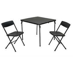 Cosco 3-Piece Centerfold Table and 2 Chairs, Indoor/Outdoor