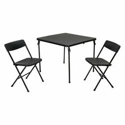 COSCO 3 Piece Indoor/Outdoor Center Fold Table and 2 Chairs