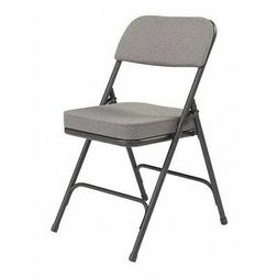 NATIONAL PUBLIC SEATING 3212 Folding Chair,Fabric,32in H,Bla