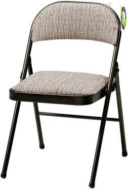 Meco 4-Pack Deluxe Fabric Padded Folding Chair, Cinnabar Fra