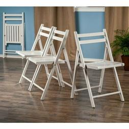 4-Pcs Set Traditional Folding Chair Solid Wood Portable Part