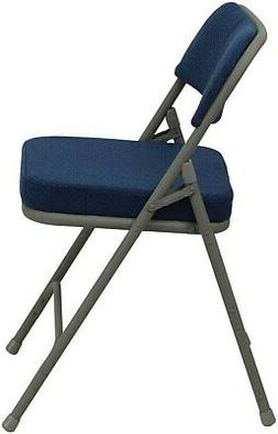 Flash Furniture Premium Curved Fabric Armless Folding Chair,