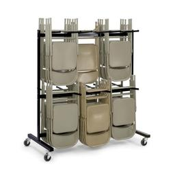 Safco Products Two-Tier Folding Chair Cart, 4199, Commercial