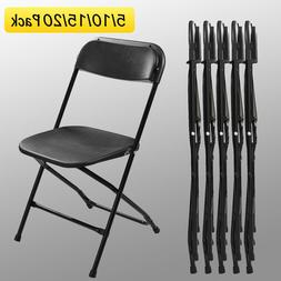 5/10/15/20 Black Commercial Quality  Plastic Folding Chair