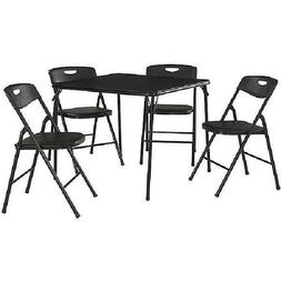 """Cosco 5-Piece Folding Table and Chair Set 33.82"""" x 33.83"""" x"""