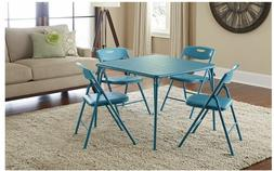 Cosco 5-Piece Folding Table Chair Set Chairs Dining Indoor O