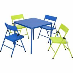 Cosco 5-Piece Kid's Table and Chair Set Blue/Green Durable S