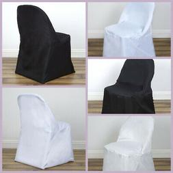 50 FOLDING Round Polyester Fabric CHAIR COVERS Wedding Party
