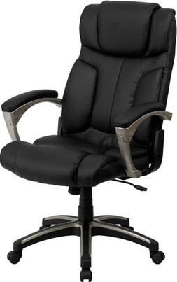 Flash Furniture High Back Folding Black Leather Executive Sw
