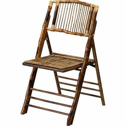 Flash Furniture Bamboo Folding Chair - 18.75inWx5inDx39inH M