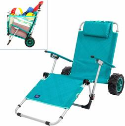 beach day convertible lounger chair with integrated