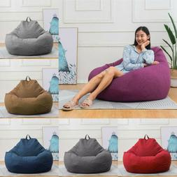 Bean Bag Chair Sofa Cover Lazy Lounger Comfy Cover Indoor Ou