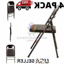 chair folding steel frame 4 pack portable