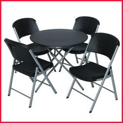 "Lifetime Combo - 33"" Round Personal Folding Table and  Foldi"