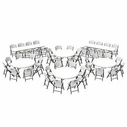 "Lifetime Combo  60"" Tables,  8' Tables and  Folding Chairs,"
