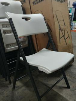 Lifetime - Commercial Contoured Folding Chair - White - 4 Pa