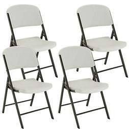 Lifetime - Commercial Contoured Folding Chair - White or Alm