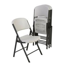 Lifetime Commercial Grade Contoured Folding Chair, 4 Pack *A