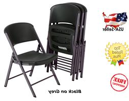 Lifetime Commercial Grade Contoured Folding Chair, 4 Pack, A