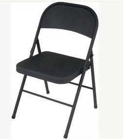 Cosco All Steel 4-Pack Folding Chair Black