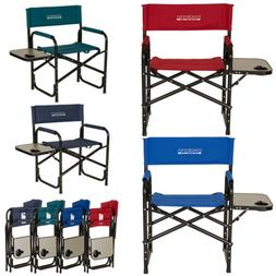 Glitzhome Deluxe Padded Folding Makeup Directors Chair Porta