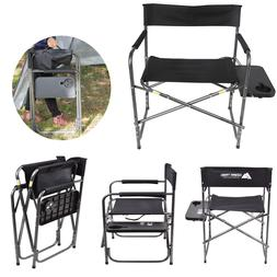 Ozark Trail Director's Chair With Foldout Side Table Black