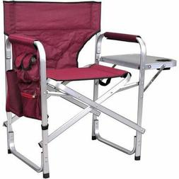 Directors Folding Chair with Side Table Full Back Aluminum F