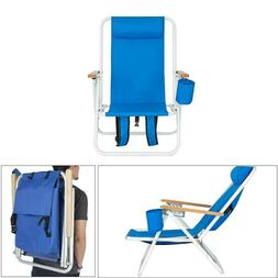 Foldable Picnic Beach Backpack Chair Chaise Reclining Campin