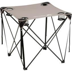 Foldable Quad Lawn Table Good For Camping Tailgate Outdoor I