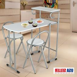 Fashion Folding Couple 1 Table with 2 Chairs Set Dining Room