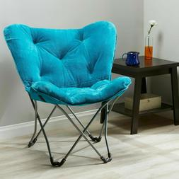 Mainstays Folding Butterfly Chair, Teal