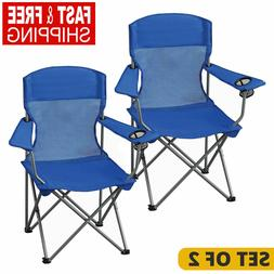 Folding Camping Lightweight Chair w/ Cup Holder & Carrying B