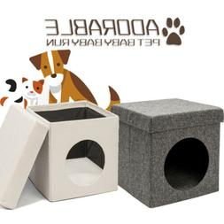 Folding Chair Cat Litter Bed House Kennels Pets Home Cave Ne