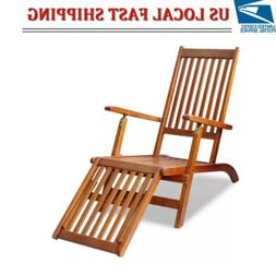 Folding Chair Outdoor Wood Deck Chair Patio Lawn Deck Garden