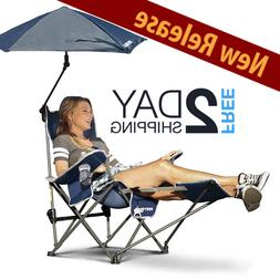 Folding Chair With Canopy And Footrest Umbrella Outdoor Port