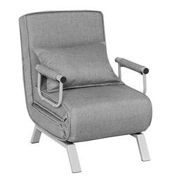 Folding Cushioned Chair Lounge Sleep Convertible Spare Guest