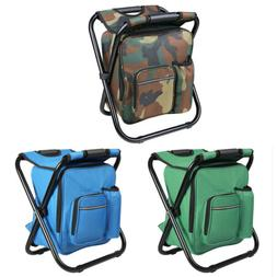Folding Fishing Chair Stool Backpack Outdoor Hiking Camping