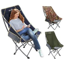 Folding High Back Camping Chair Lightweight  Heavy Duty 330l