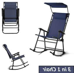 Folding Rocking Chair Outdoor Zero Gravity Patio Chairs Porc