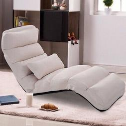 Giantex Folding Lazy Sofa Chair Stylish Sofa Couch Bed Loung