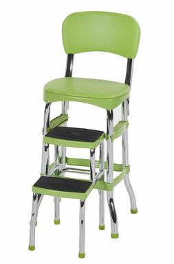 Green Folding Step Stool Kitchen Office Home Chair Back Retr