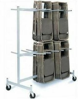 Hanging Rolling Folding Chair Storage Cart/Rack 2 Tier Chair