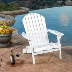 Hanlee Outdoor Folding Wood Adirondack Chair by Christopher