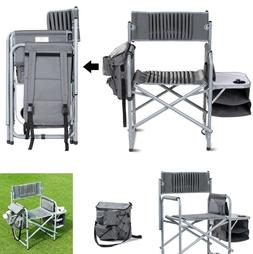 Heavy Duty Folding Camping Chair Outdoor With Side Table & B